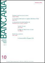 Immagine di Bancaria n. 10/2016