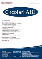 Immagine di Circolari ABI n. 1-2 del 21 gennaio 2019